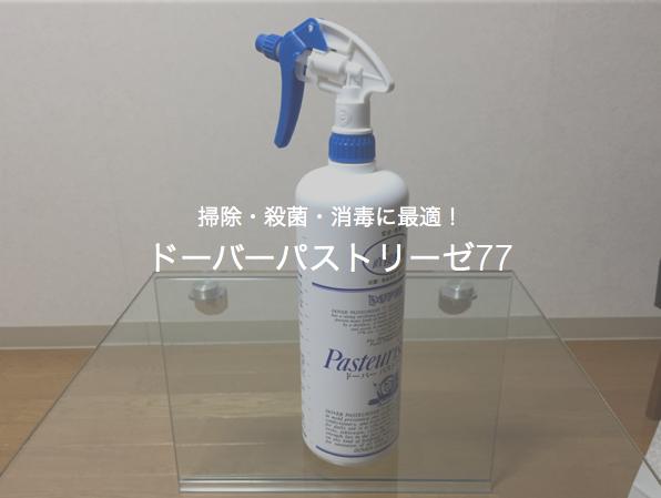 掃除・殺菌・消毒をまとめて行える最強のアルコールスプレー「ドーバーパストリーゼ77」がおすすめ